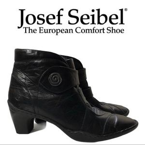 EUC Josef Seibel Black Leather Ankle Boot …